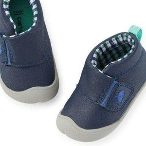Baby Boys Blue Leather Walking Shoes